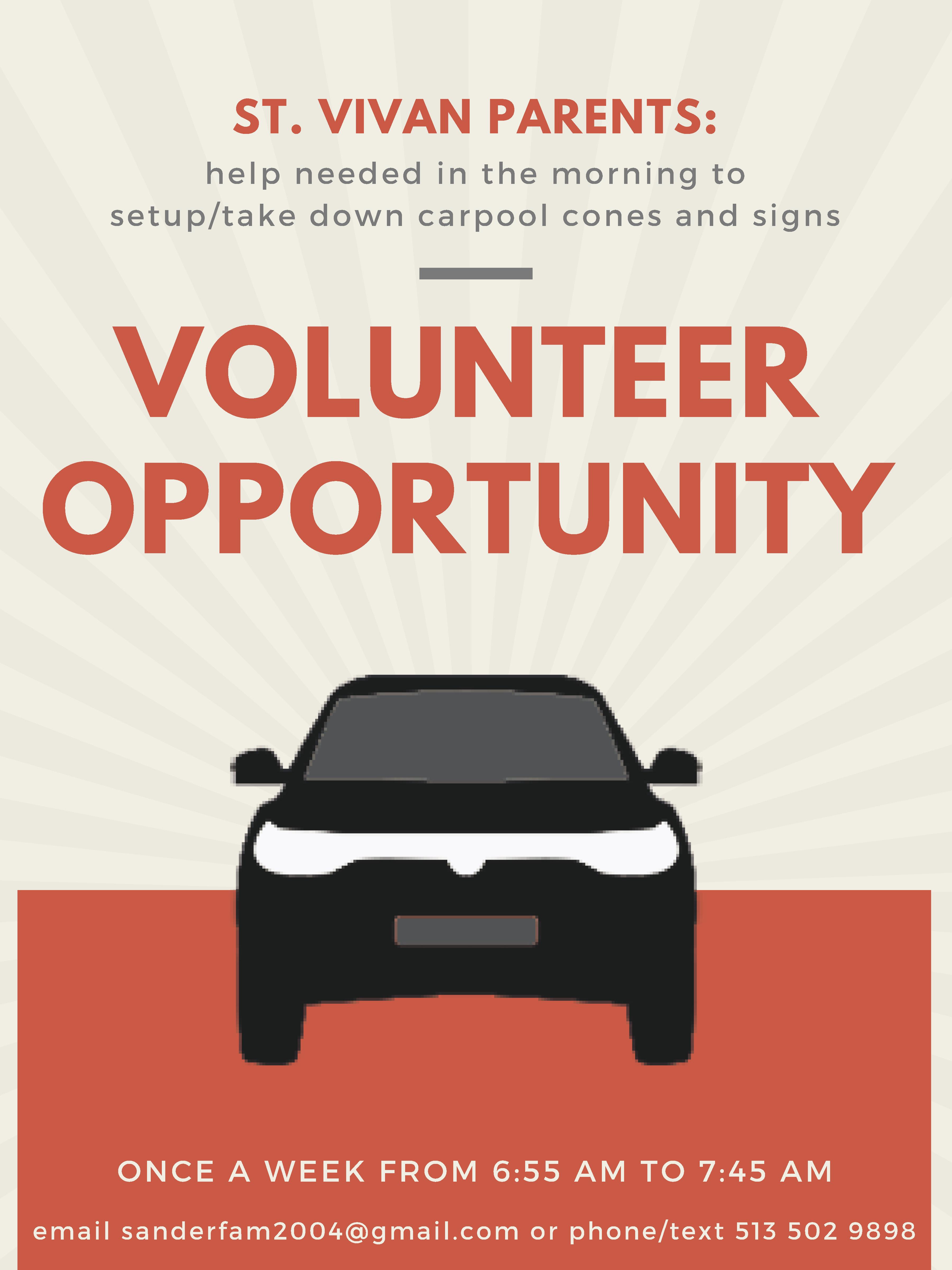 Carpool Volunteer Ad